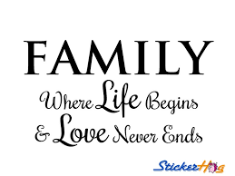 Family Life Quotes Inspiration Family Where Life Begins Love Never Ends Wall Quotes Wall
