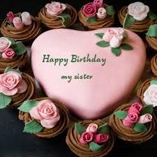 10 Sister Happy Birthday Beautiful Cakes Photo Happy Birthday Cake