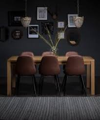 rustic leather eames dsw inspired chairs with solid oak table leather dining