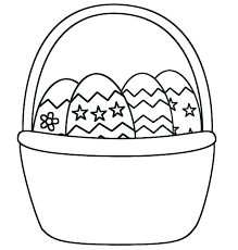 Easter Basket Coloring Page Basket Coloring Pages To Print Basket