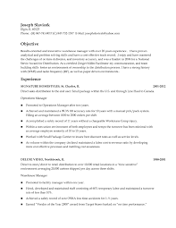 Warehouse Distribution Resume Sample Resume Objectives Warehouse