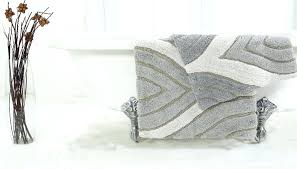 grey bath rugs silver gray light rug set plush
