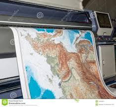 plotter printing map stock photo image of plotter format