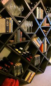 bookshelf/wine rack combo