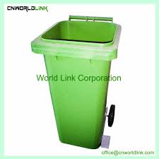 hot dustbin plastic outdoor trash can with wheel