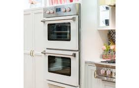 double electric wall oven with an