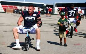 It's anyone's guess why the packers turned away from watt on draft night, but come sunday they will find out in person what they might have missed. J J Watt Gets Dream Drive Before Practice With Packers