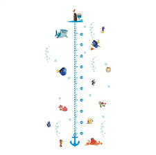Vinyl Growth Chart Finding Nemo Dory Height Growth Chart Measurement Vinyl Wall