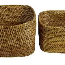 baskets boxes decorative square laundry basket wooden