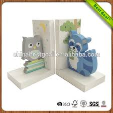 custom shaped creative modern wooden kids bookends
