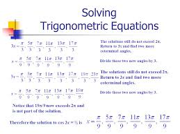 12 solving trigonometric equations