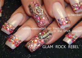Sparkling Long Nails Ideas Easy Nail Art Designs Together With ...