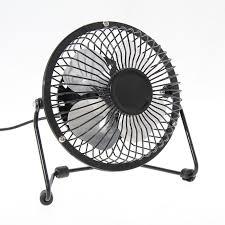 portable small desk fan mini usb fans for pclaptopnotebook metal 4 inch 3 color s s