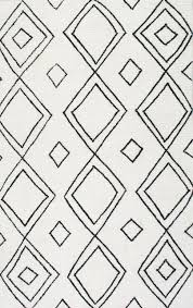 hand tufted moroccan diamond wool rug scandinavian area rugs by nuloom