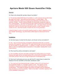 Aprilaire Filter Chart Aprilaire 800 Troubleshooting Guide Manualzz Com