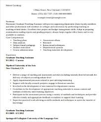 Teacher Assistant Resume Gorgeous 60 Sample Teaching Assistant Resumes Sample Templates