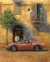 art by alan fearnley classic car paintings car painting