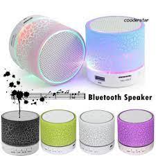 Loa Bluetooth Không Dây Mini Siêu Trầm Có Đèn Led - Loa