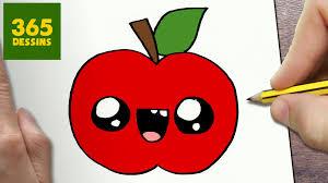 Comment Dessiner Pomme Kawaii Tape Par Tape Dessins Kawaii Dessin De Pomme L