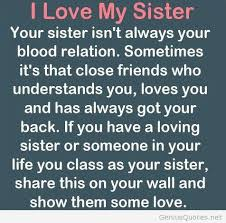 Love My Sister Quotes Classy Love Sister Quote