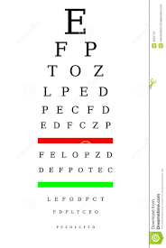 Optometrist Chart Stock Illustration Illustration Of