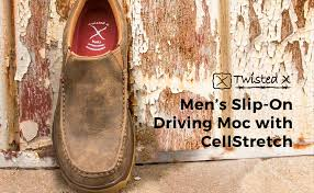 Twisted X Width Chart Twisted X Mens Cellstretch D Toe Driving Mocs Casual Slip On Shoes Bomber
