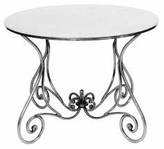 Zinc Dining Table French Tables Paris Round Dining Table Large