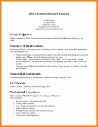 Resume Objective Statements For Administrative Positions
