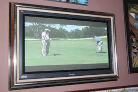 Framing A Tv Art Framing Mirrors Flat Tvs In Del Mar Carmel Valley The