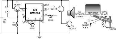 security alarm circuit diagram ireleast info luggage bike security alarm circuit wiring circuit