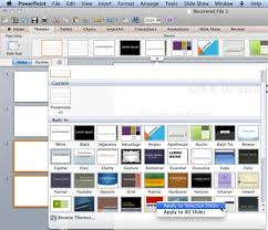 Excel Slice Theme Applying Themes In Word Excel And Powerpoint 2011 For Mac