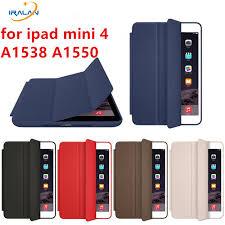 2018 for apple ipad mini 4 case pu leather smart wake up sleep with matte transap