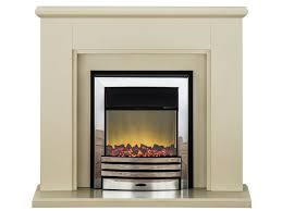 adam greenwich fireplace suite in stone effect with eclipse electric fire in chrome 45 inch