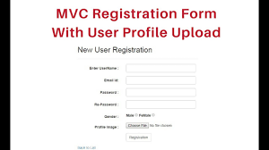 mvc registration form with database