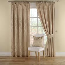 montgomery realm gold lined pencil pleat curtains 117cm wide
