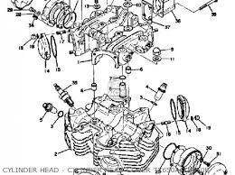 yamaha xs650 1975 usa parts lists and schematics cylinder head cylinder head cover tx650a xs650b
