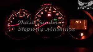 Dacia Sandero Stepway Ekstra Yakıt Uyarısı - YouTube