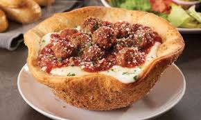 olive garden introduces meatball pizza bowl for anyone who happens to love carbs