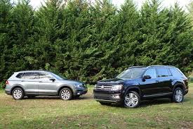 Vw Atlas Trim Comparison Chart 2019 2018 Volkswagen Atlas Vs 2018 Volkswagen Tiguan Compare Cars