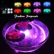 halloween party lighting. LED Vase Submersible Led Lights-Battery Set Of 4 Powered Accent Lights RGB W/ Remote For Wedding, Centerpiece, Halloween, Party Halloween Lighting