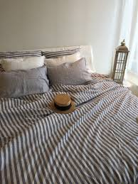 best linen duvet cover for comfortable bed ideas grey white striped linen duvet cover for