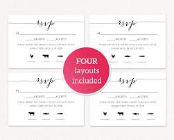 Rsvp Card With Meal Icons Wedding Templates And
