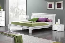 ESF Geko Momo Modern Style White High Gloss Finish Full Size Bed Bedroom Set 3Pcs