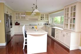 ... New French Provincial Kitchen in Vinyl Finish with Stone Benchtop and  Timber Floors ...