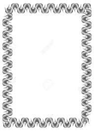 white certificate frame black and white abstract vertical frame guilloche border for