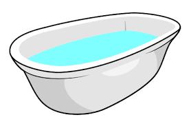 how to draw a cartoon bathtub