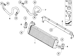 bmw e m coupe radiator parts schematic diagram