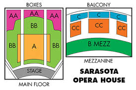Sarasota Opera House Seating Chart Performance Venues