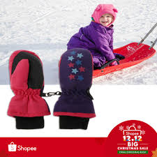 Baby Winter Waterproof Mittens Children <b>Thickening Warm Ski</b> ...