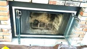 good fireplace glass door replacement interior ceramic throughout decorating lowe with blower open or closed screen